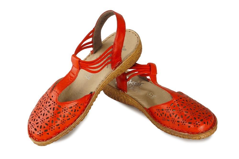 RIEKER M0978-33 red, sandały damskie, sklep internetowy e-kobi.pl